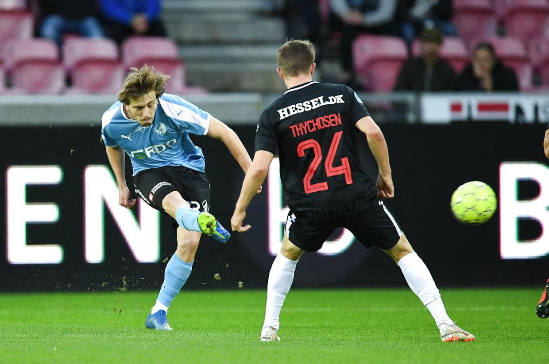 Superliga. Fodbold: FC Midtjylland mod Randers FC. MCH Arena Herning. Søndag den 26. august 2018.