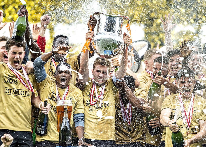 FC Midtjylland vandt danmarksmesterskabet i sidste sæson.