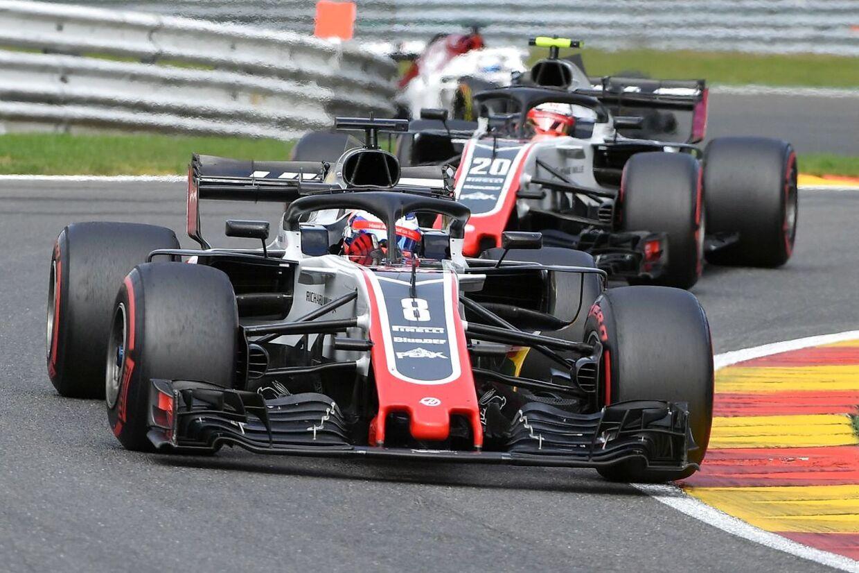 Haas-kørerne Romain Grosjean og Kevin Magnussen blev nummer syv og otte.