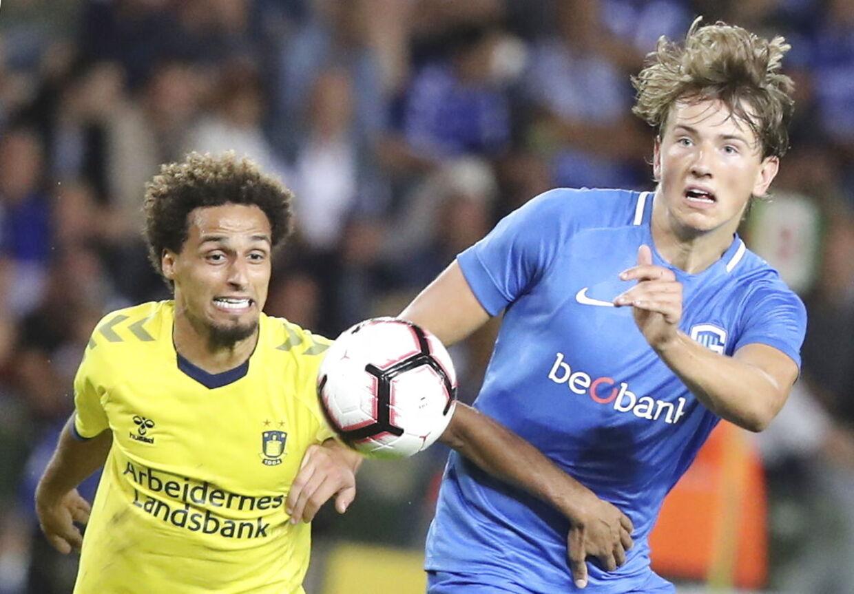 Hany Mukhtar og Brøndby jagte rmiraklet mod Genk og Sander Berge.