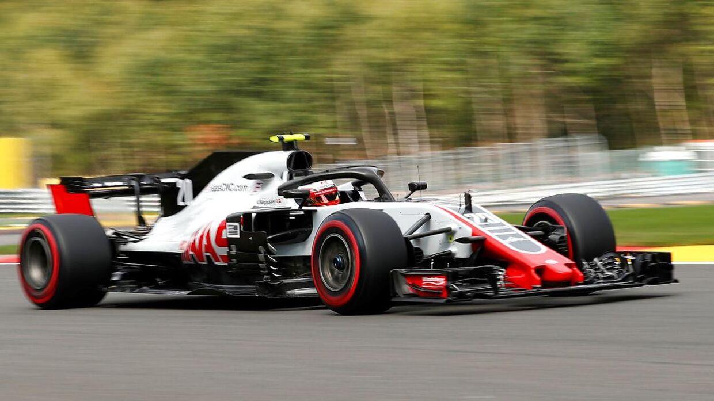 Kevin Magnussen i Haas-bilen.