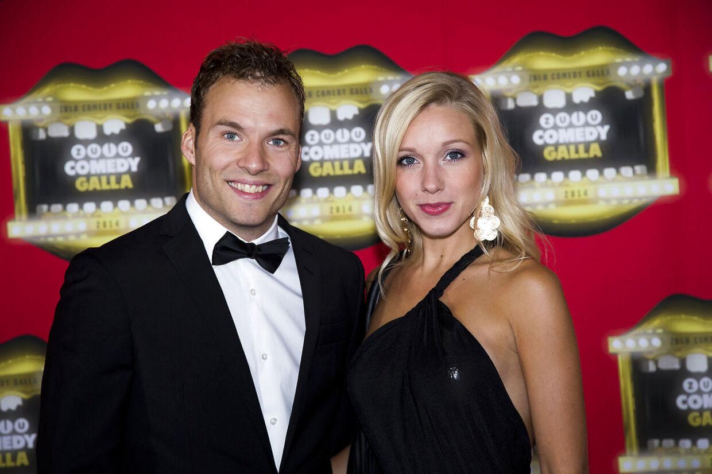 Simon Talbot med sin forlovede, Katrine Køhler, i 2014.
