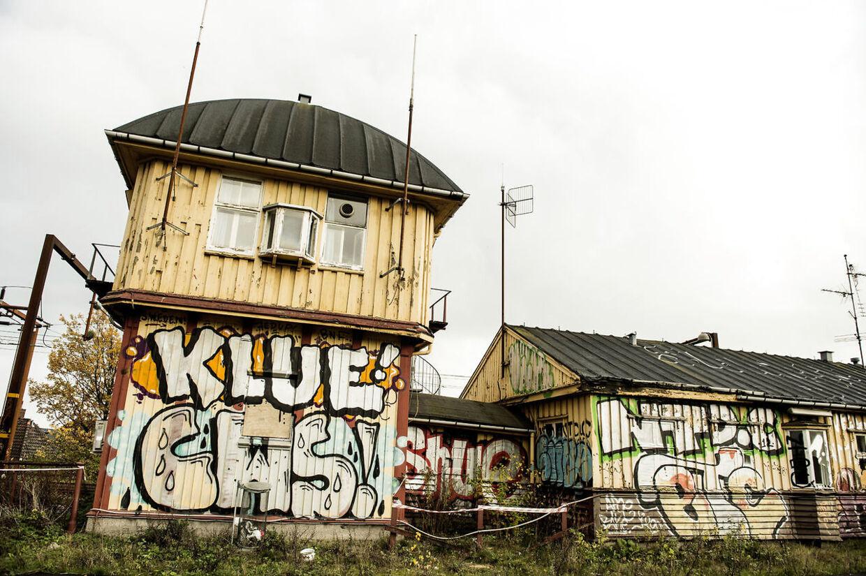 Det Gule Palæ. Gammelt location for Olsen Banden film er blevet reddet af frivillige entrepenører. Der er tale om, at Det gule Palæ, skal flyttes, i stedet for at rives ned. Her ses det i København 7. november 2014