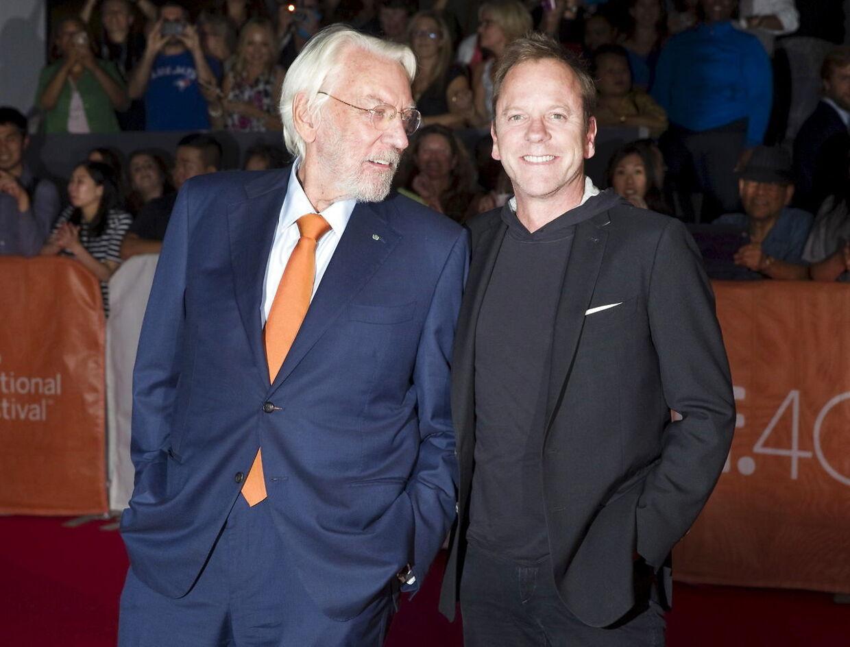 Donald og Kiefer Sutherland.