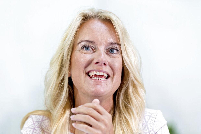 Partiformand Pernille Vermund. Nye Borgerlige, som vil i Folketinget ved næste valg, og som er opstillingsberettigede, holder sommergruppemøde på Hotel Klinten i Rødvig på Stevns. (Foto: Bax Lindhardt/ Scanpix 2018)