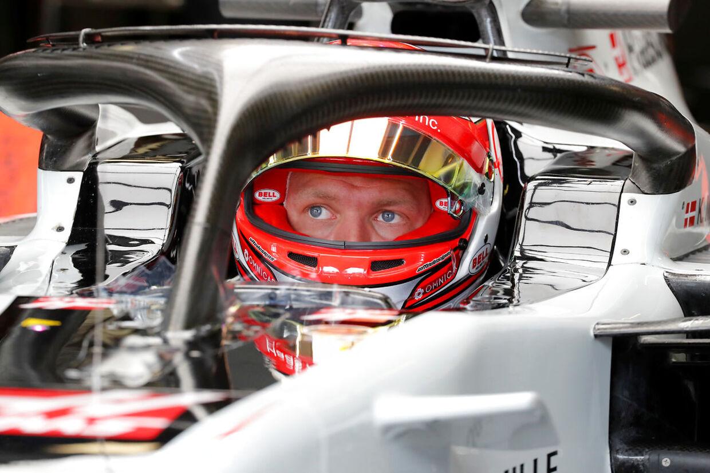 Kevin Magnussen gad ikke tage fredsfoto med Alonso. (REUTERS/Stefano Rellandini)