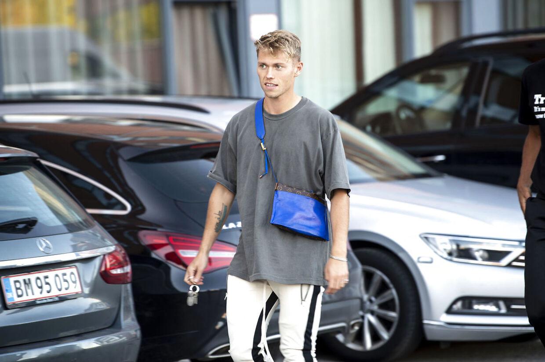 Viktor Fischer var også blandt de fremmødte landsholdsspillere søndag aften.
