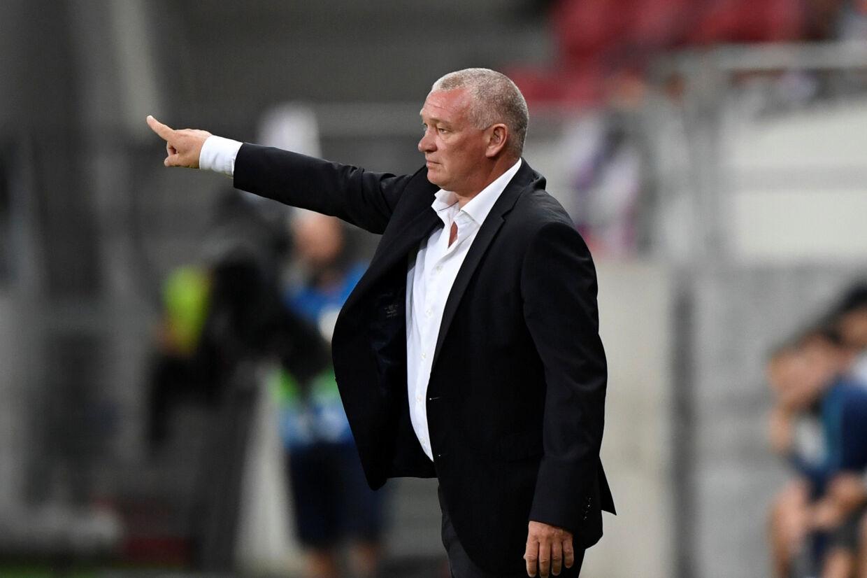John Faxe Jensen debuterede onsdag som dansk landstræner. Radovan Stoklasa/Reuters