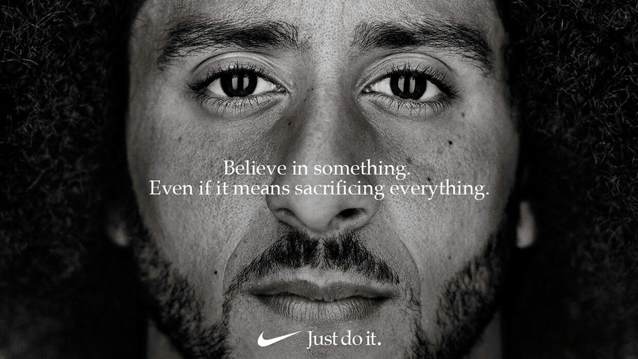 """Former San Francisco quarterback Colin Kaepernick appears as a face of Nike Inc advertisement marking the 30th anniversary of its """"Just Do It"""" slogan in this image released by Nike in Beaverton, Oregon, U.S., September 4, 2018. Courtesy Nike/Handout via REUTERS ATTENTION EDITORS - THIS IMAGE HAS BEEN SUPPLIED BY A THIRD PARTY.NO RESALES.NO ARCHIVES. MANDATORY CREDIT. TPX IMAGES OF THE DAY"""