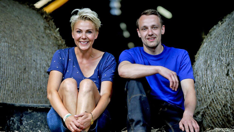 Lene Beier med deltageren Niels