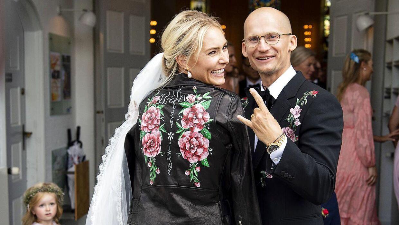 Christian Stadil og Alice Brunsø vies i Messiaskirken i Charlottenlund. Lørdag 18. august 2018.