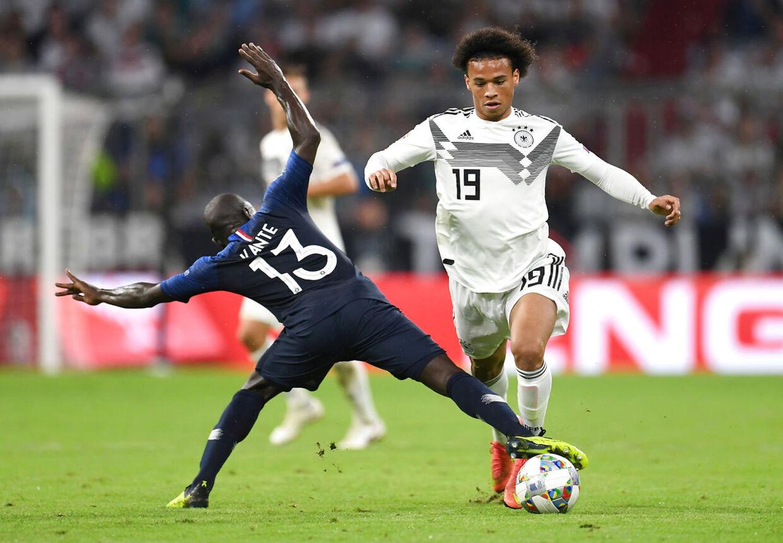 Leroy Sané mod Frankrig.