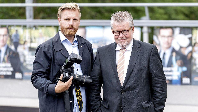 Valg i Sverige. Fotograf Bax Lindhardt og politisk redaktør Andreas Karker, i Stockholm.