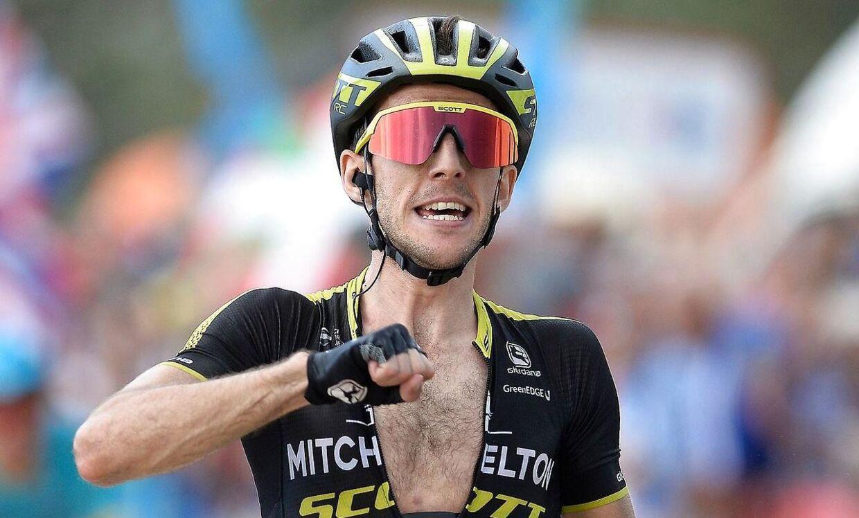 Simon Yates var første mand over målstregen på 14. etape i Vuelta a Espana.