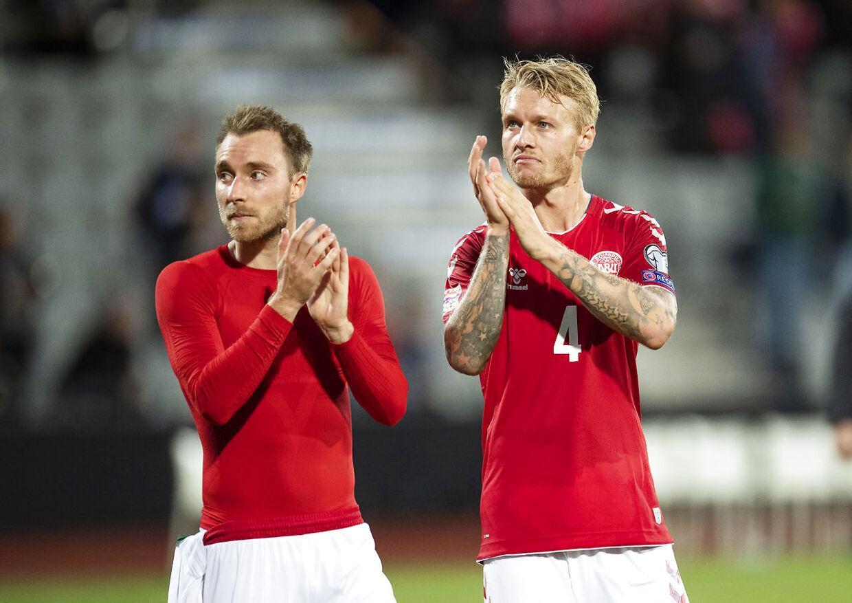 Christian Eriksen og Simon Kjær er øverst i hierarkiet på landsholdet.