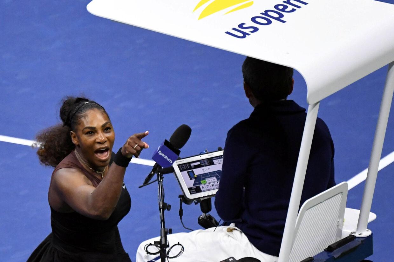 Serena Williams var rasende på dommer Carlos Ramos, da hun lørdag tabte US Open-finalen og undervejs blev fratrukket både et point og et parti. Usa Today Sports/Ritzau Scanpix