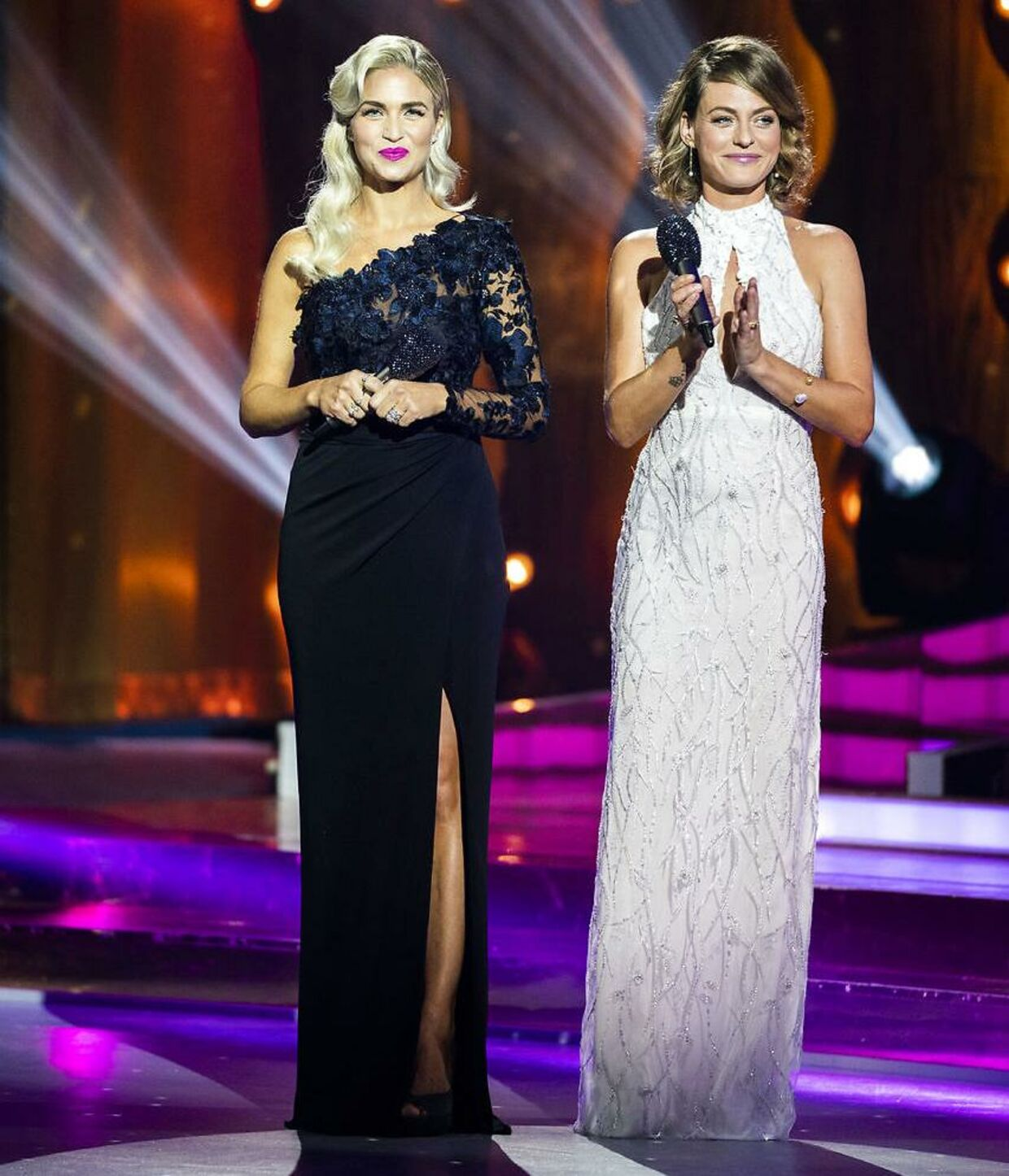 Årets 'Vild med dans'-værter Sarah Grünewald og Christiane Schaumburg-Müller.