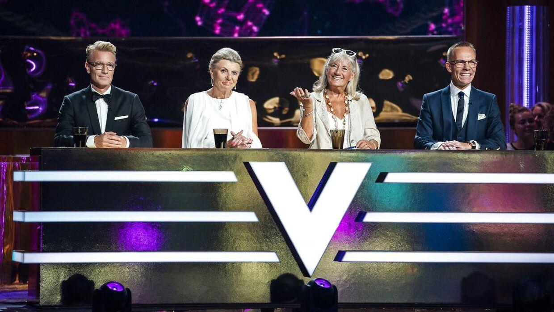 Dommerne i 'Vild med dans' Nikolaj Hübbe, Anne Laxholm, Britt Bendixen og Jens Werner.