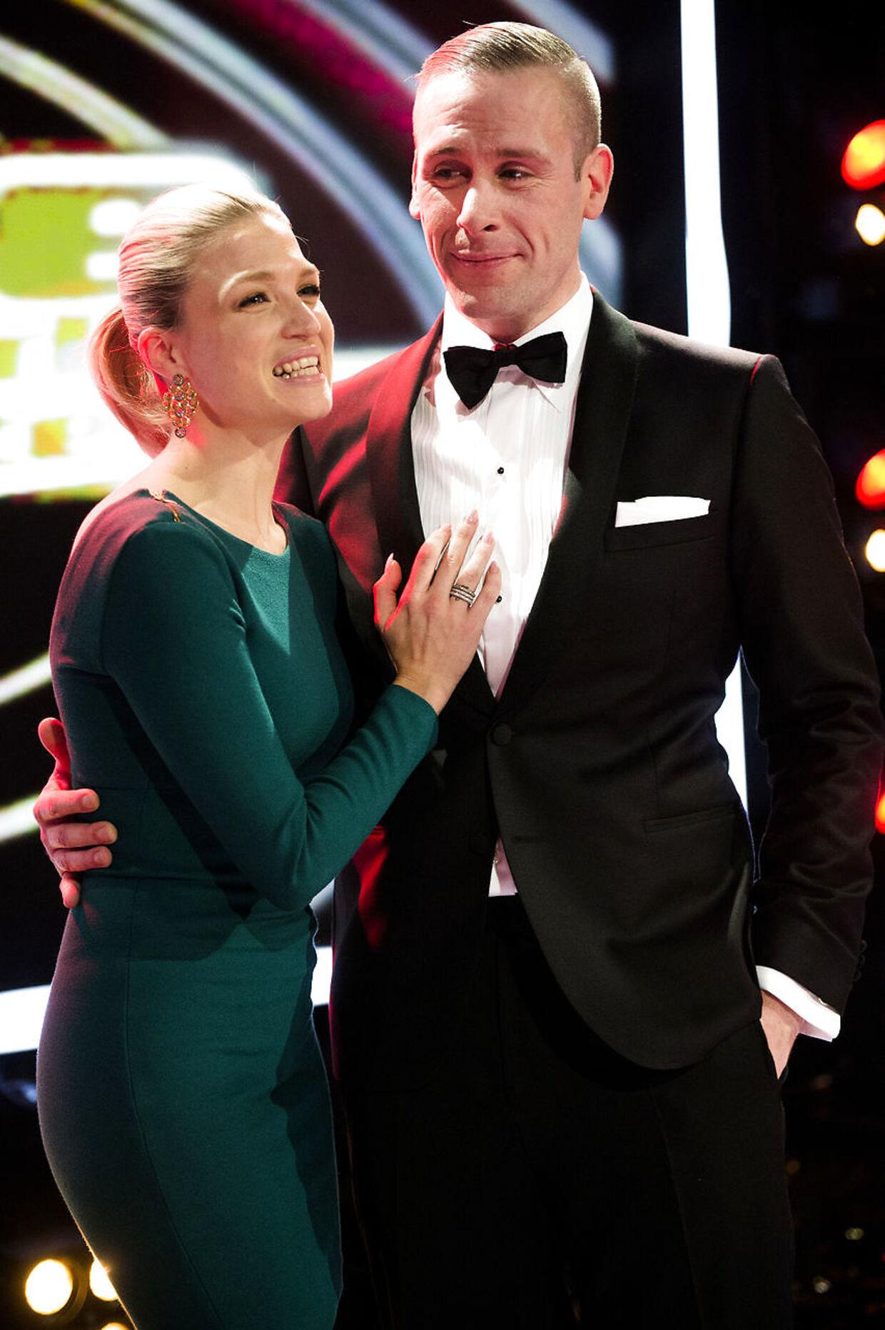 Arkivfoto. Her ses Liam O'Connor sammen med sin kæreste, 'Vild med dans'-værten Christiane Schaumburg-Müller.