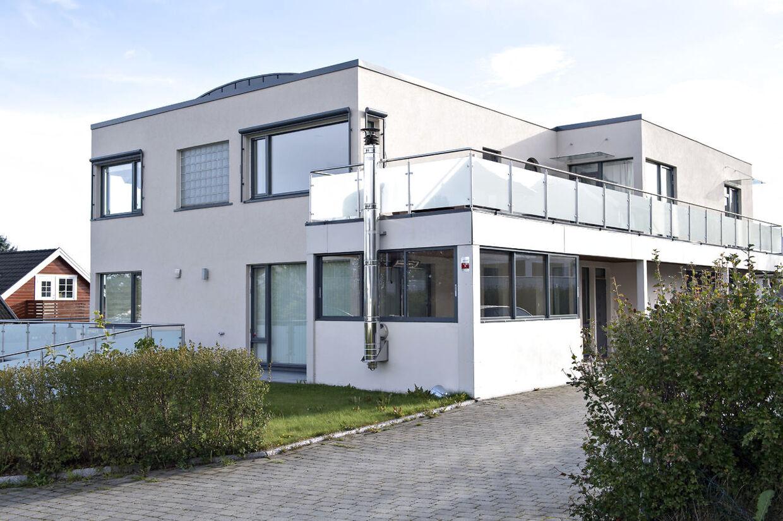 Nicklas Bendtners villa i Trondheim, som han købte i 2017 for 18 millioner norske kroner. Trondheim, tirsdag den 11. september 2018.