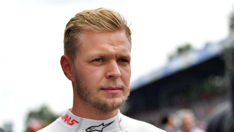 Kevin Magnussen må være den næste i rækken, der lukker kørermarkedet hos Haas-teamet. (Photo by Andrej ISAKOVIC / AFP)
