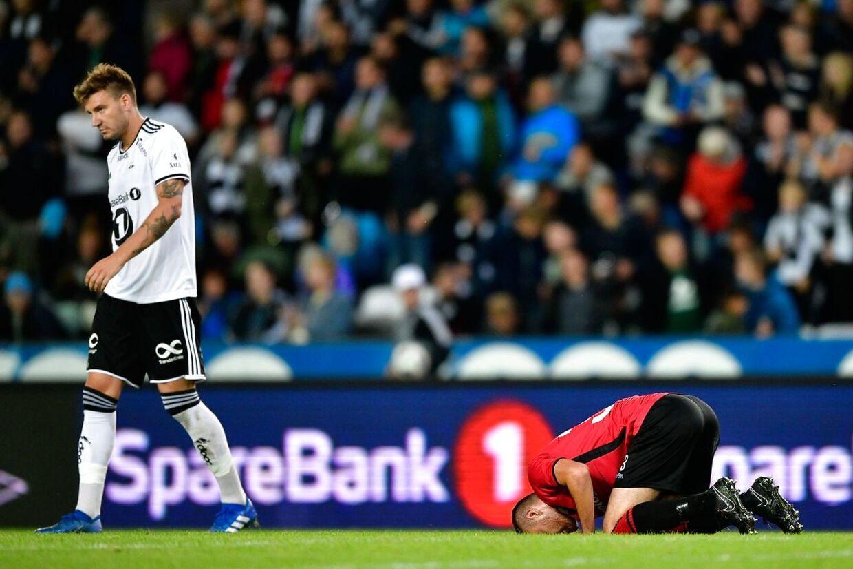 Nicklas Bendtner i aktion for Rosenborg.
