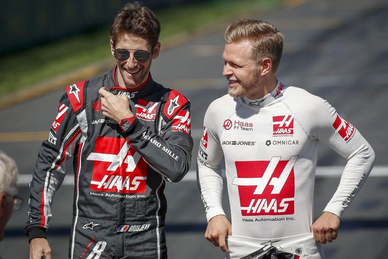Kevin Magnussen og Romain Grosjean ligner også i 2019 Haas-teamet kørere. (EPA/DIEGO AZUBEL)