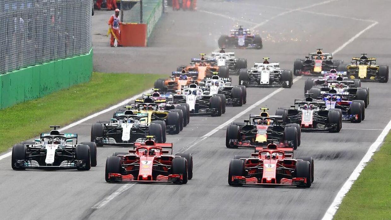 Formel 1-feltet i fuld fart. Også i København?