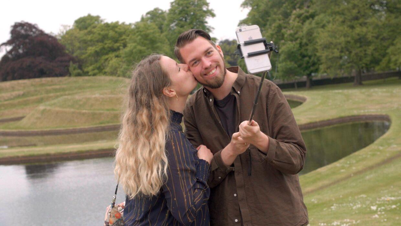 Kathrine og Michael i Edinburgh. Foto: DR