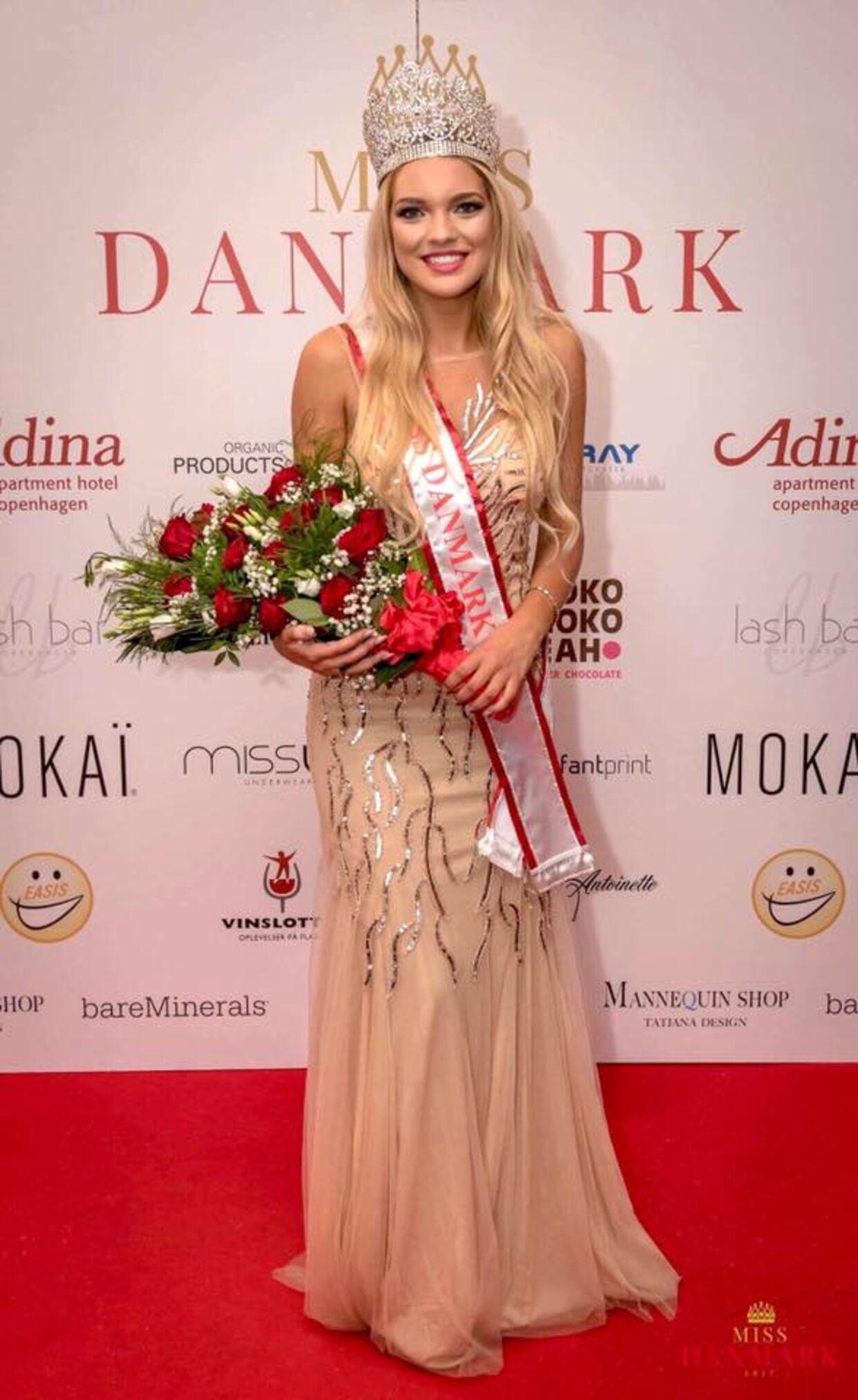 Miss Denmark 2017 Amanda Petri, der i aften skal overrække kronen til den nye vinder