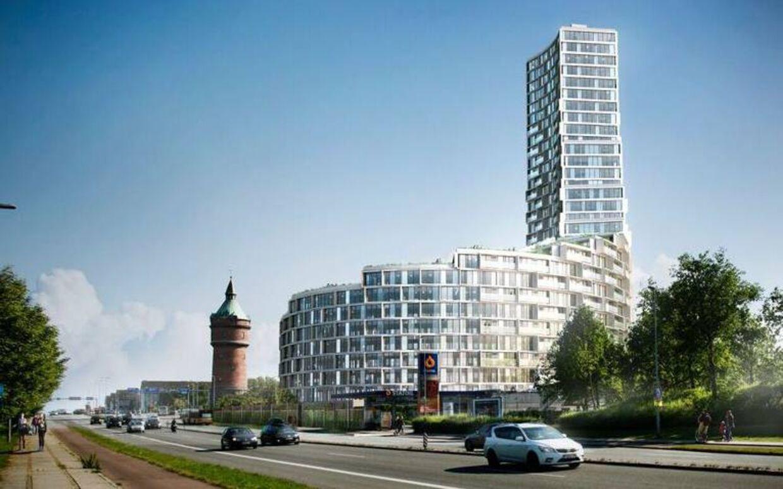 Det nye bolighøjhus på 96 meter, der planlægges at opføres på grunden, hvor Hotel la Tour er i dag.