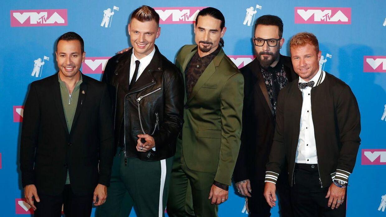 Nick Carter (nr. 2 fra venstre) sammen med resten af Backstreet Boys til MTV Video Music Awards tidligere på året.