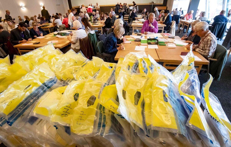 Stemmerne tælles op i Malmø. Billedet er fra den 11. september.