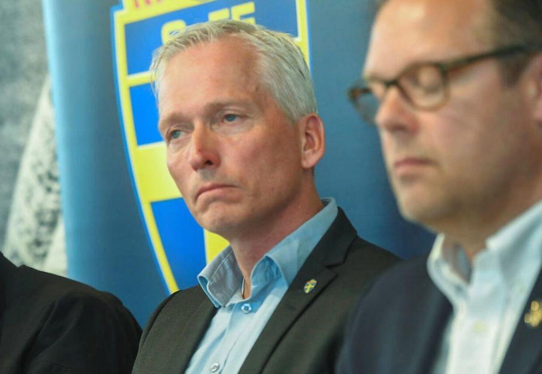 Håkan Sjöstrand, generalsekretær i det svenske fodboldforbund, i forbindelse med en tidligere sag.