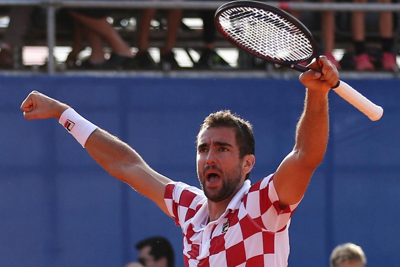 Marin Cilic bragte Kroatien foran med 2-0 mod USA. Antonio Bronic/Reuters
