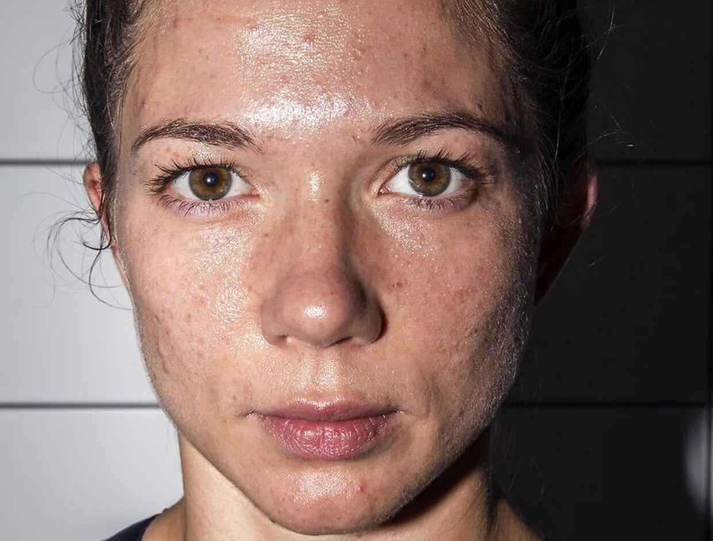 Sarah Mahfoud ved Danish Fight Night i Frederiksberg Hallerne, lørdag den 15. september 2018.