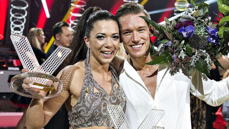 Sarah Mahfoud og Morten Kjeldgaard vandt 'Vild med dans' i 2016.
