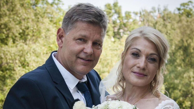 Eva Lundberg og Carsten Jensen på deres bryllupsdag. Foto: DR