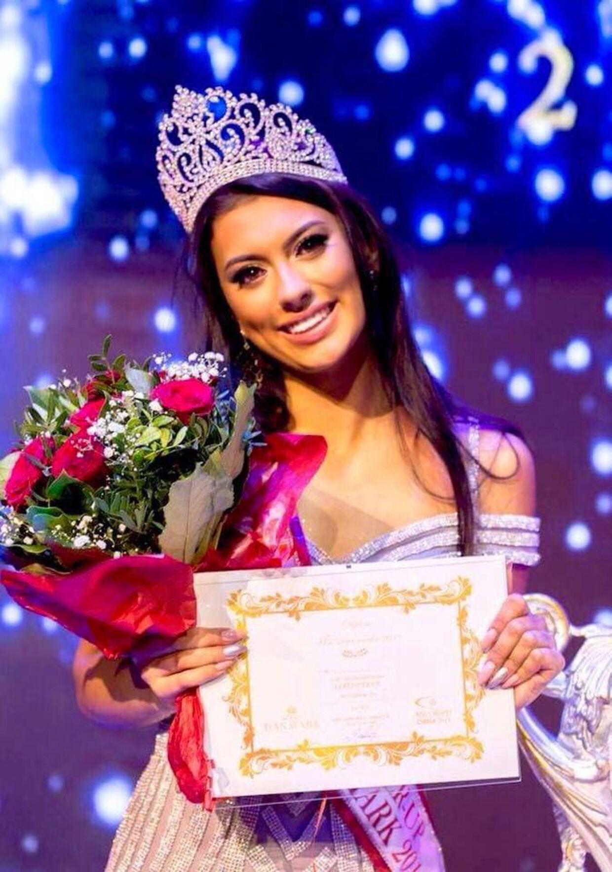 Tara Jensen under sidste uges finale i Miss Danmark 2018. Foto: Raisul Jhilan / Miss Danmark
