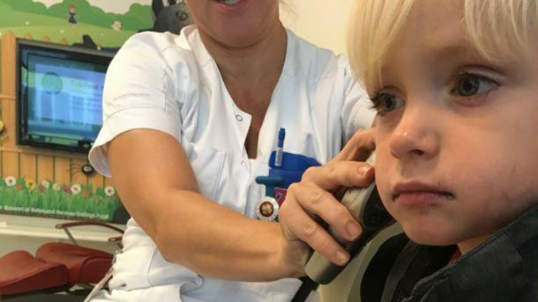 Treårige Philip på Sygehuset.