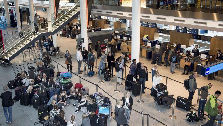 Lufthavnstilsynet fanger sociale bedragere i lufthavne i Danmark, her Kastrup. Arkivfoto
