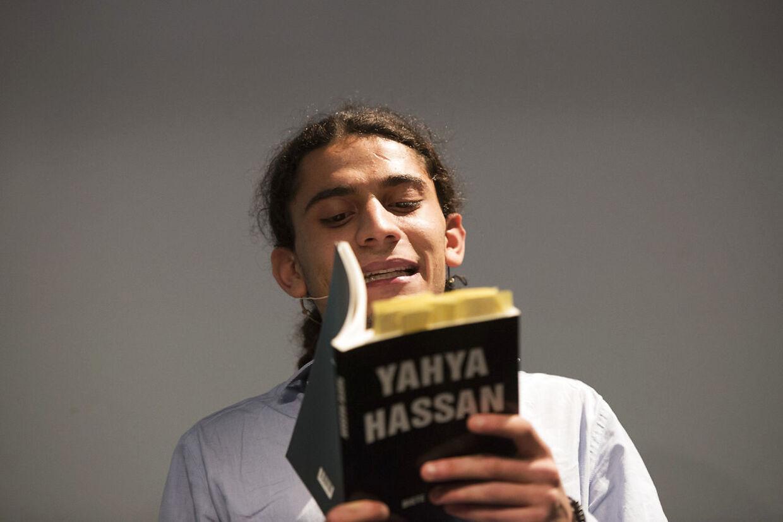 ARKIVFOTO 2013 af Yahya Hassan, der læser op af sin digtsamling.