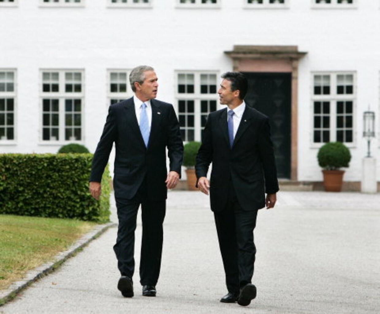 George W. Bush tog imod familien Fogh. Arkivfoto: Henning Bagger