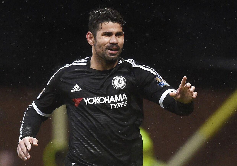 Arkivfoto: Diego Costa skulle angiveligt have været i klammeri med Chelsea-kollegaen Oscar