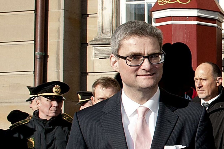 Søren Pind blev præsenteret som ny integrationsminister på Amalienborg i dag.