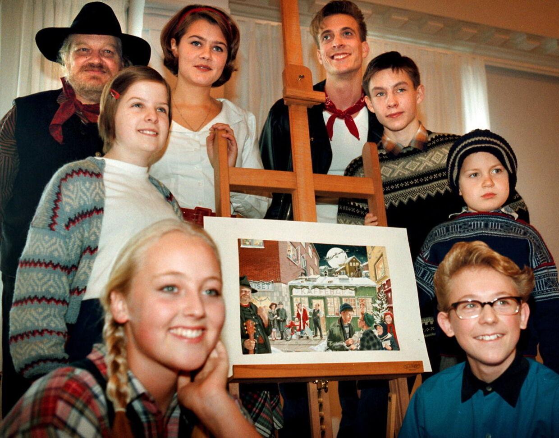 Castet på 'Brødrene Mortensens jul' talte blandt andre Flemming 'Bamse' Jørgensen, Sofie Lassen-Kahlke og Karl Bille.