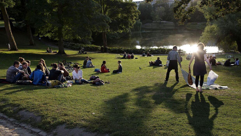 Sensommer aften i H.C Ørsted Parken sidste år.