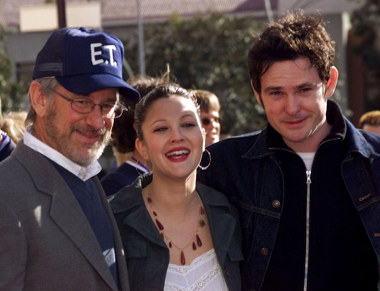 Henry Thomas med Steven Spielberg og Drew Barrymore til 20-års-jubilæet for 'E.T.' i 2002.