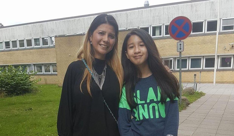 Mint og hendes mor, Ratre, efter Mint kom til Danmark i 2017.
