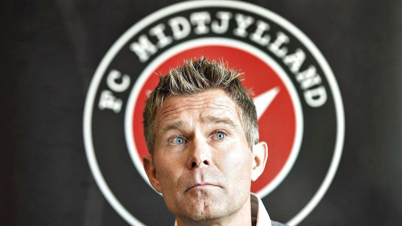 FC Midtjylland præsenterer her Kenneth Andersen som ny træner ved et pressemøde på MCH Arena i Herning.